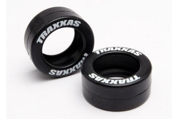 Tires, rubber (2) (fits Traxxas wheelie bar wheels)