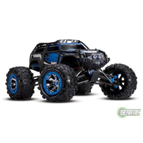 Traxxas Summit 4 wiel aangedreven monster blauw met  Bluetooth optie zonder accu en lader