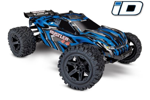 Rustler 4X4 1/10-scale 4WD Stadium Truck blauw met accu en 12v lader