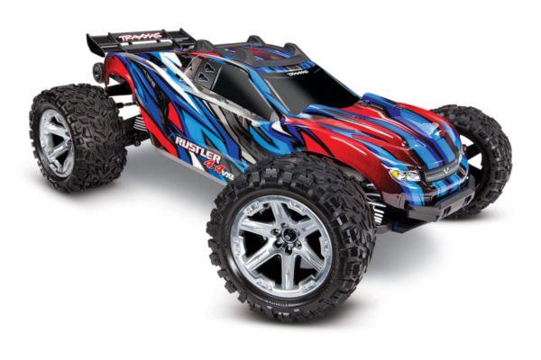 Rustler 4X4 1op10-scale 4WD Stadium Truck met TSM blauw