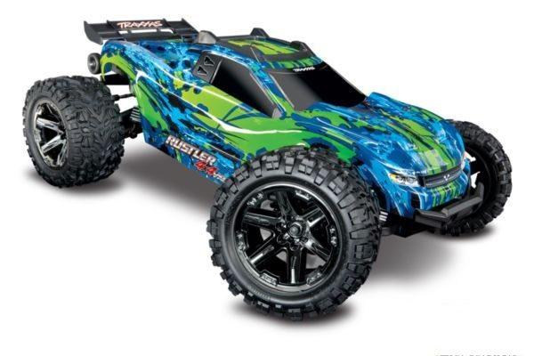 Rustler 4X4 1op10-scale 4WD Stadium Truck met TSM groen