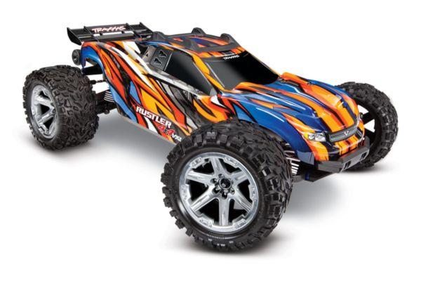 Rustler 4X4 1op10-scale 4WD Stadium Truck met TSM oranje
