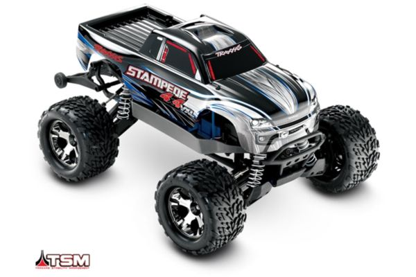 Traxxas Stampede 4x4 VXL silver 1/10 brushless zonder accu en charger