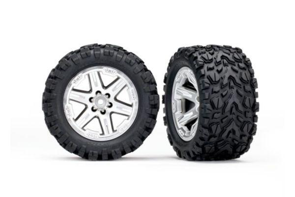 Tires wheels assembled glued 2.8 RXT Satin chrome wheels Talon Extreme 2pcs