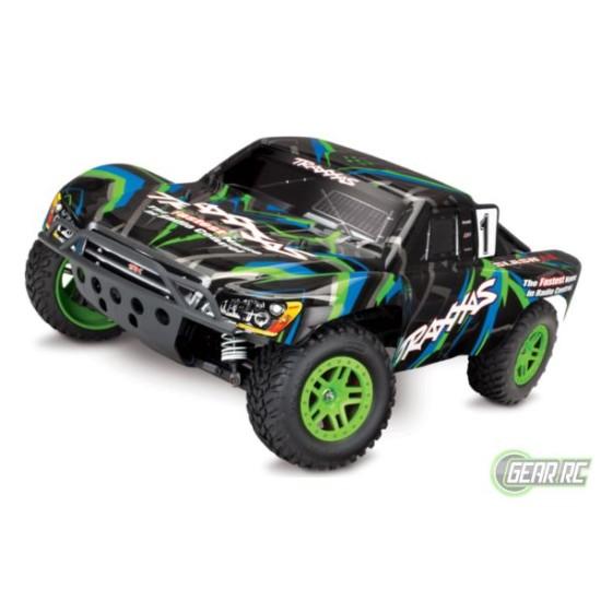 Slash 1/10 Scale 4X4 Short Course Racing Truck groen met accu en 12v lader