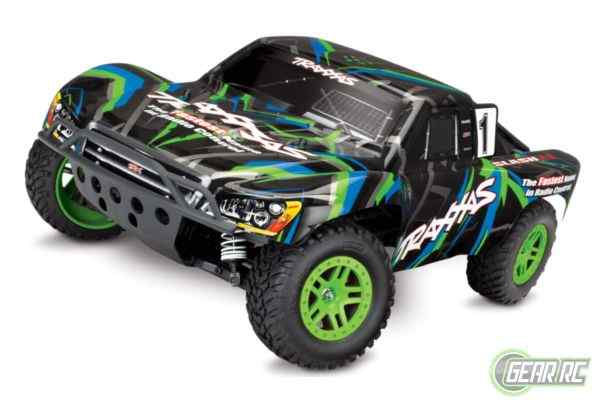 Slash 1/10 Scale 4X4 Short Course Racing Truck groen met accu en 12v lader