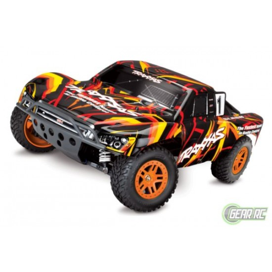 Slash 1/10 Scale 4X4 Short Course Racing Truck oranje met accu en 12v lader