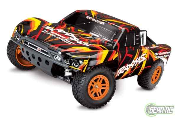 Slash 1/10 Scale 4X4 Short Course Racing Truck oranje met accu en 12v lader