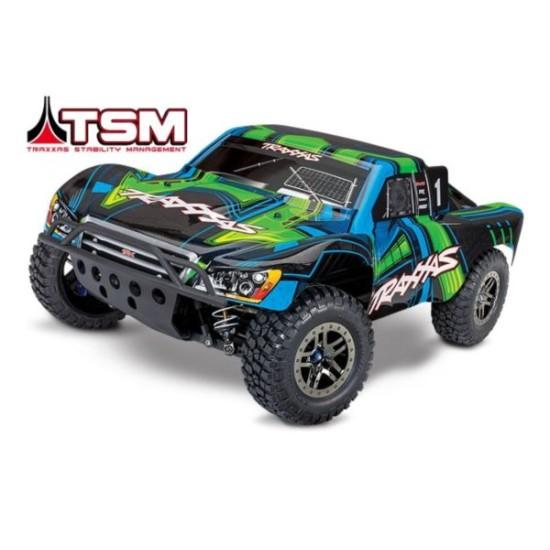 Traxxas slash 4X4 Ultimate TSM groen zonder batterij en lader