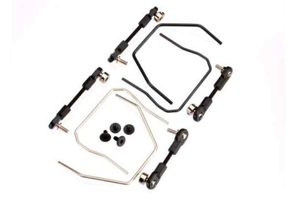 Sway bar kit, Slash 4x4 (front and rear) (includes front and