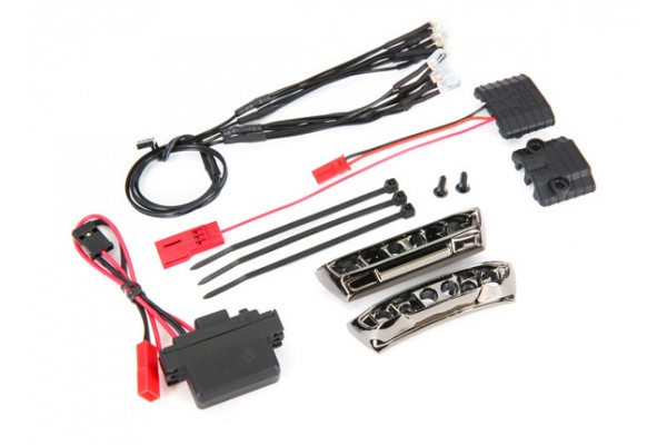 LED light kit, 1/16 E-Revo (includes power supply, front & rear bumpers, light harness (4 clear, 4 red), wire ties)