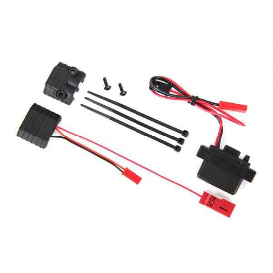 LED lights, power supply (regulated, 3V, 0.5-amp)/ power tap connector (with cable)/ 2.6x8 BCS (2)