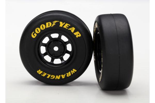Tires And Wheels, Assembled, Glued (8-Spoke Wheels, Black, 1.9 Goodyear Wrangler Tires) (2)