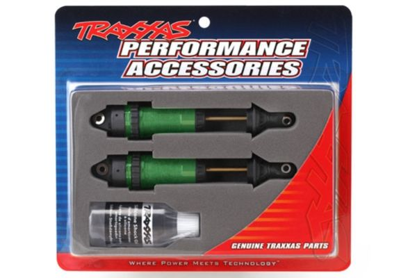 Shocks GTR xx-long green-anodized PTFE-coated bodies with TiN shafts fully assembled without springs 2pcs