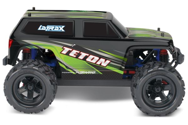 LaTrax Teton 1/18, brushed RTR groen met accu en 12v lader