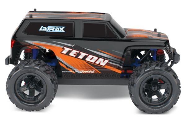 LaTrax Teton 1/18, brushed RTR oranje met accu en 12v lader