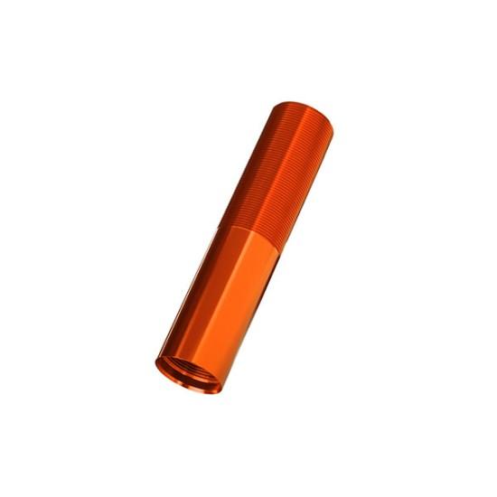 Body, GTX shock (aluminum, orange-anodized) (1)
