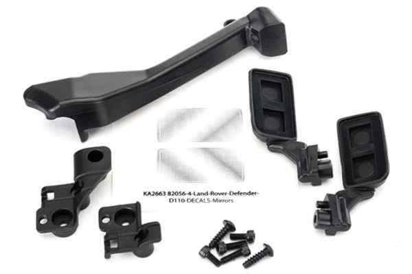 Mirrors, side (left & right)/ snorkel/ mounting hardware