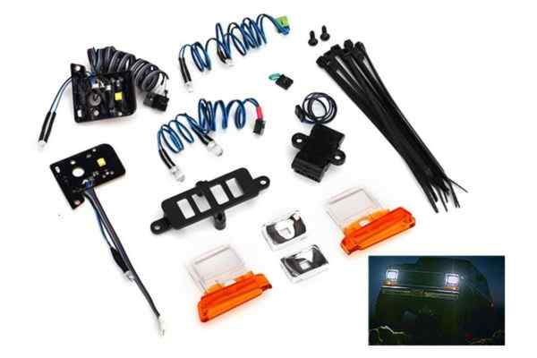 LED light set (contains headlights, tail lights, side marker lights, and distri