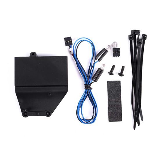 Installation kit, Pro Scale Advanced Lighting Control System, TRX-4 Chevrolet Blazer (1979) (includes mount, reverse lights harness, hardware)