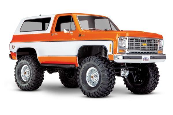 Traxxas TRX-4 Chevy K5 Blazer Crawler TQi XL-5 oranje zonder batterij en lader