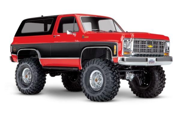 Traxxas TRX-4 Chevy K5 Blazer Crawler TQi XL-5 rood zonder batterij en lader