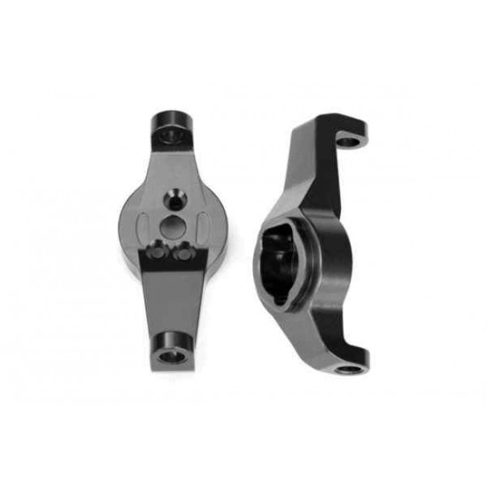 Caster blocks 6061-T6 aluminum charcoal gray-anodized left and right