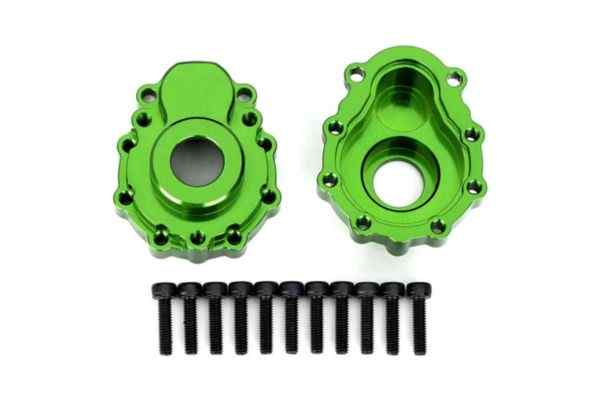 Portal housings, outer, 6061-T6 aluminum (green-anodized) (2)/ 2.5x10 CS (12)