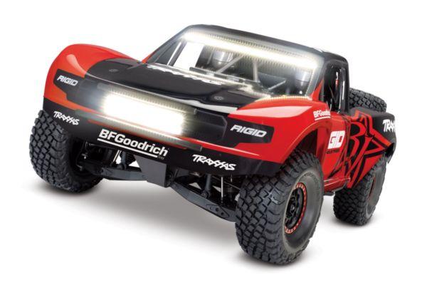 Traxxas Unlimited Desert Racer 4WD Rood met verlichting