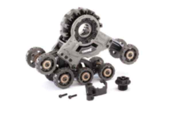 Traxx, front, left (assembled) (requires 8886 stub axle, 7061 GTR shock, & 8895 rubber track)