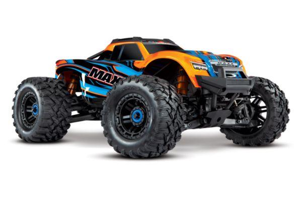 Traxxas Maxx 4S brushless monster truck Oranje zonder accu en lader