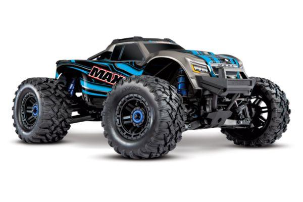 Traxxas Maxx 4S brushless monster truck Blauw zonder accu en lader