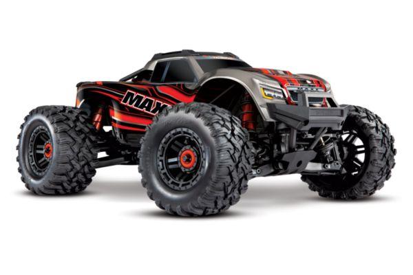 Traxxas Maxx 4S brushless monster truck Rood zonder accu en lader
