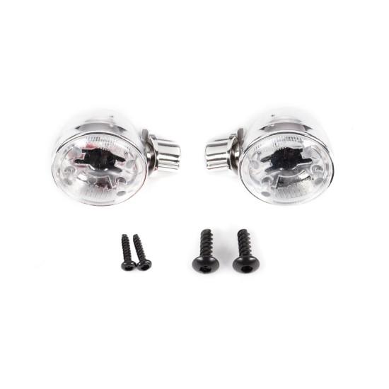 Headlight housings (left & right)/ headlight lens (2)/ 2.6x8 BCS (2)/ 1.6x7 BCS (self-tapping) (2) (fits #9333 or 9335 body)
