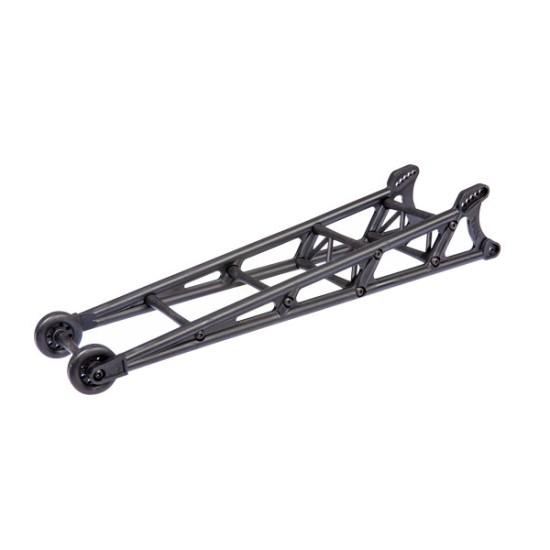 Wheelie bar, black (assembled)/ wheelie bar mount