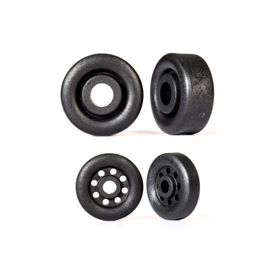 Wheels, wheelie bar, black (26mm (2), 18mm (2))