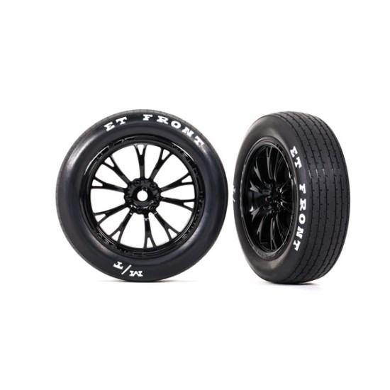 Tires & wheels, assembled, glued (Weld gloss black wheels, tires, foam inserts) (front) (2)