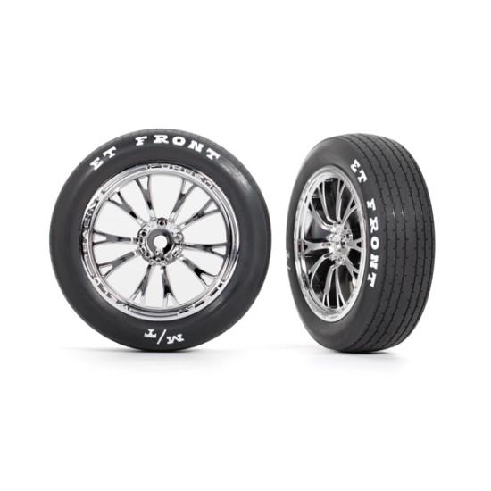 Tires & wheels, assembled, glued (Weld chrome wheels, tires, foam inserts) (front) (2)