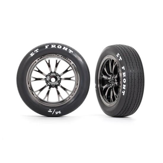 Tires & wheels, assembled, glued (Weld black chrome wheels, tires, foam inserts) (front) (2)