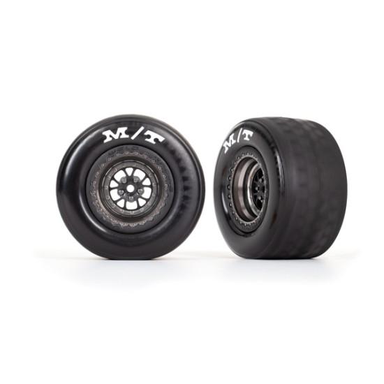 Tires & wheels, assembled, glued (Weld satin black chrome wheels, tires, foam inserts) (rear) (2)