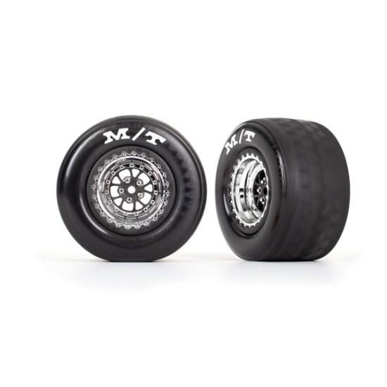 Tires & wheels, assembled, glued (Weld chrome with black wheels, tires, foam inserts) (rear) (2)