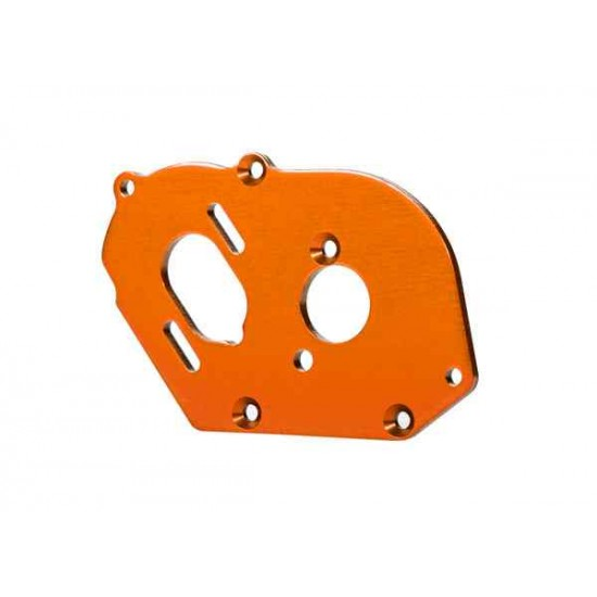 Plate, motor, orange (4mm thick) (aluminum)/ 3x10mm CS with split and flat washer (2)