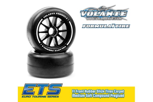 Volante F1 Front Rubber Slick Tires Soft Compound Preglued