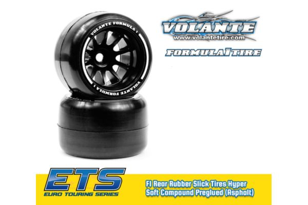 Volante F1 Rear Rubber Slick Tires Asphalt Hyper Super Soft Compound Preglued