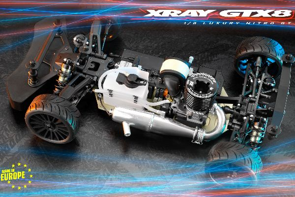 XRAY GTX8.2 - 1/8 LUXURY NITRO ON-ROAD GT CAR
