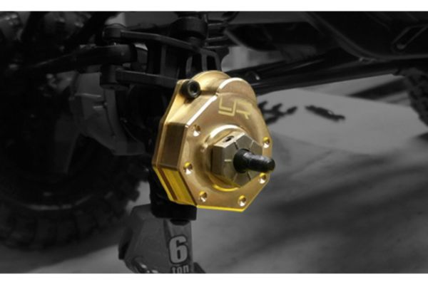 Yeah Racing TRX-4 High Mass Brass Front Portal Axle Covers 2Pcs