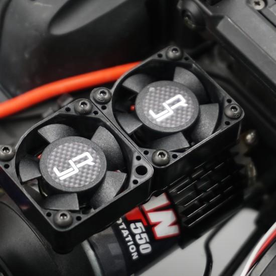 Aluminium 540 550 Motor Heat Sink w/Twin Tornado High Speed Fan Orange