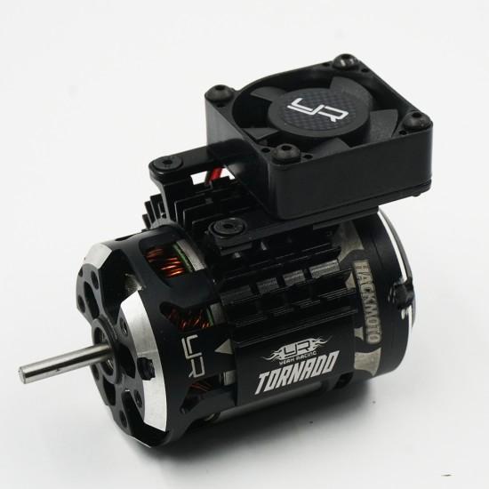 Aluminium 540 550 Motor Heat Sink w/single Tornado High Speed Fan Orange