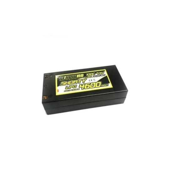 Yellow RC LiPo 4600mAh 7,4V 2S 100C Shorty Hardcase